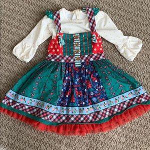 EEUC DARLING Matilda Jane Christmas Knot Dress